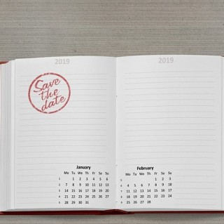 Kalender 2019 mit Save the Date im Januar